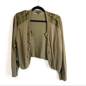 Torrid Army Green Military Cardigan Size 2